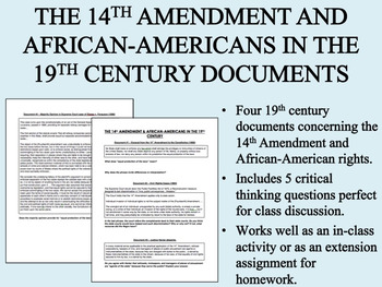 The 14th Amendment and African-American Rights - US History/APUSH