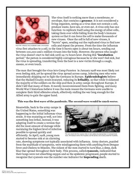 The 1918 Spanish Influenza Epidemic: Article, Worksheets, and Project Prompts