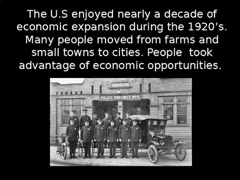 The 1920's