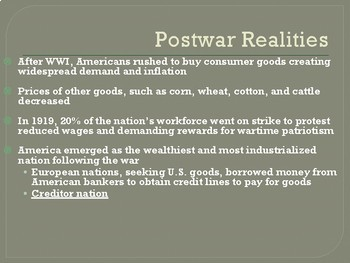 The 1920s - PowerPoint Presentation with Guided Notes