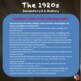 The 1920's (The Roaring '20's) TEST & Review Game -Common Core Aligned! Editable