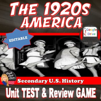 The 1920's (The Roaring '20's) TEST & Review Game -Common