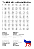 The 1948 US Presidential Election Word Search