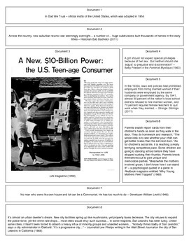 The 1950s: Mainstream United States (Document Packet) (1 of 2)