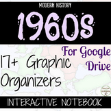 1960s Digital Interactive Notebook Organizers for Google Drive