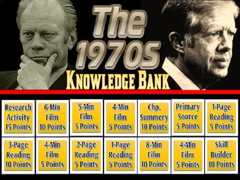 The 1970's (Ford & Carter Administrations) Digital Knowledge Bank