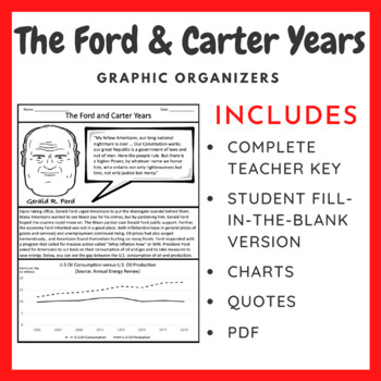 The 1970s - Ford and Carter: Graphic Organizer and Crash Course #42