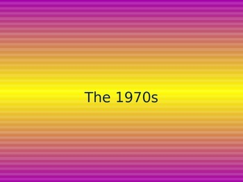 The 1970's Power Point with Writing Prompts