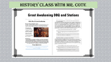 The 1st Great Awakening DBQ and Stations