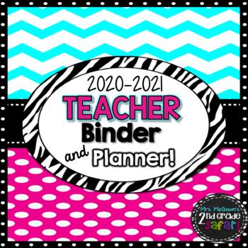 The 2017-2018 Chevron Pink Teacher Binder & Planner! The Ultimate Organizer