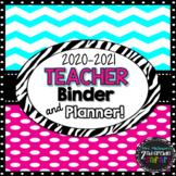The 2016-2017 Chevron Pink Teacher Binder & Planner! The U