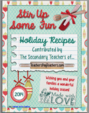 The 2014 Secondary Teachers' Holiday Recipe Cookbook-FREE!!