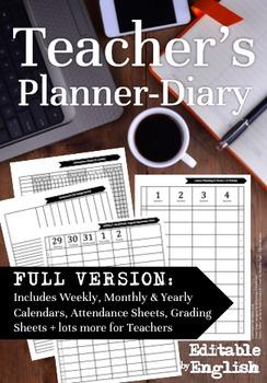 The 2016-2017 Teachers Planner Diary *FULL Version*