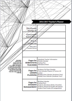 The 2016-2017 Teachers Planner Diary *FULL Version*