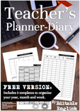 The 2016-2017 Teachers Planner Diary *FREE Version*