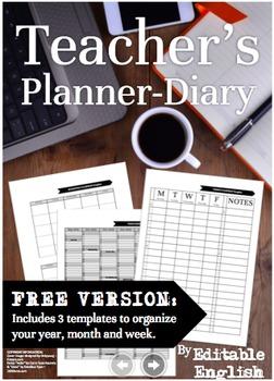 The 2016-2017 Teachers Planner Diary *FREE Version*