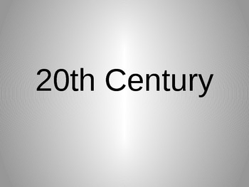 The 20th Century: 1960-1969 Power Point