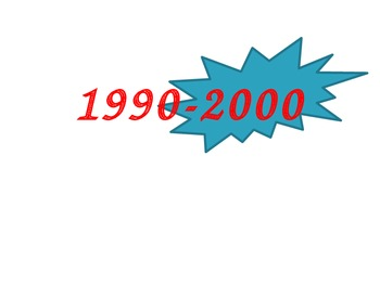 The 20th Century: 1990-2000 Power Point