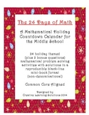 The 24 Days of Math: Problem-A-Day Holiday Mini-book for Middle School