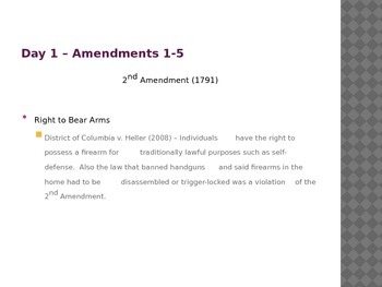 The 27 Amendments with Correlating Cases