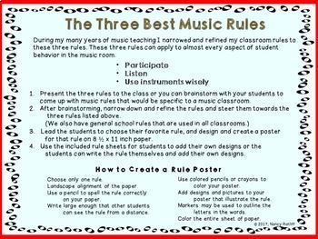 The 3 Best Music Rules Bulletin Board Student Work Elementary