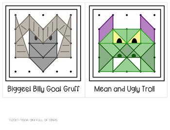 The 3 Billy Goats Gruff Geoboard Task Cards