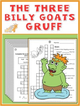 The 3 Billy Goats Gruff  Puzzle Fun