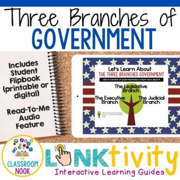 Link & Think Digital Guide- Branches of Government {Google Classroom Compatible}