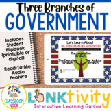 Branches of Government Mini-Unit + LINKtivity   Digital Guide  Distance Learning