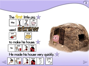 The 3 Little Pigs - Animated Step-by-Step Story - SymbolStix