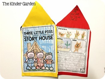 The 3 Little Pigs Compare and Contrast Story House