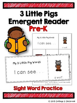 The 3 Little Pigs Emergent Reader for PreKinders