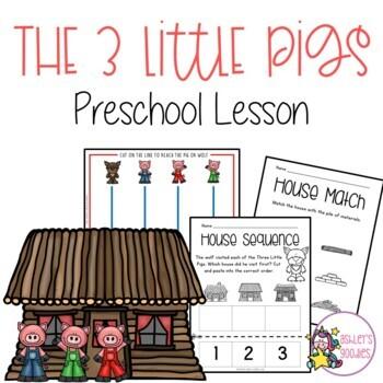 The 3 Little Pigs Preschool/Highscope Lesson