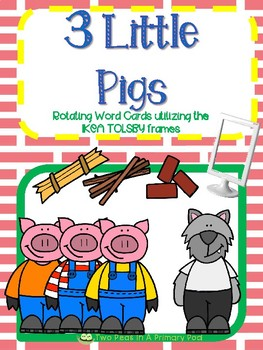 The 3 Little Pigs word cards for IKEA TOLSBY frames