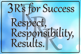 The 3 R's For Success Sign