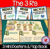 The 3 R's Posters and Flap Book REDUCE REUSE RECYCLE