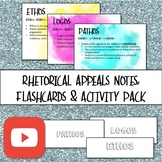 The 3 Rhetorical Appeals (Ethos, Pathos, Logos) Notes & Activity Pack