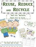 The 3 Rs Reduce Reuse and Recycle Earth fun activities & worksheet