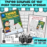 """The 3 Sounds of """"ed"""" Past Tense freebie Verb Game - Easel"""