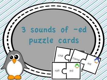 The 3 sounds of -ed puzzle pieces