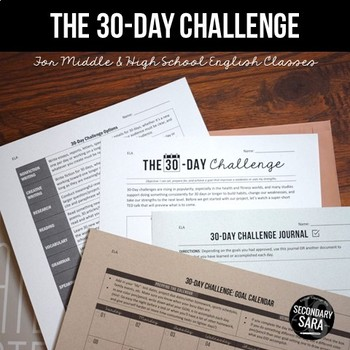 The 30-Day Challenge: Differentiated Project for English Class