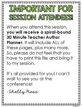 The 30 Minute Teacher Author