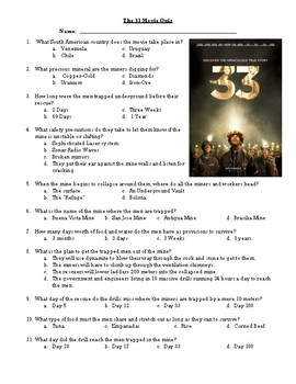 The 33 movie Quiz
