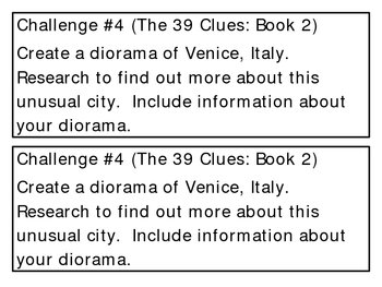 """""""The 39 Clues: One False Note"""" (book 2) Challenges"""