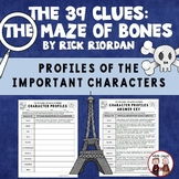 The 39 Clues The Maze of Bones Reading Characters Activity