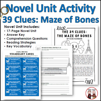 The 39 Clues The Maze of Bones Novel Unit