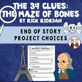 The 39 Clues The Maze of Bones Novel Unit Activity Projects