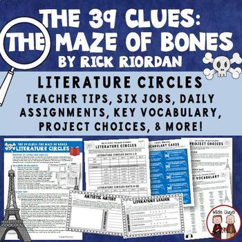 The 39 Clues The Maze of Bones Reading Literature Circle Activity