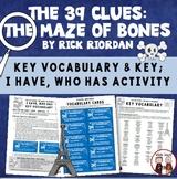 The 39 Clues The Maze of Bones Vocabulary Activity