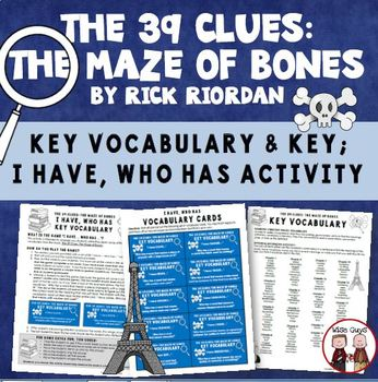 The 39 Clues The Maze of Bones Vocabulary Activity